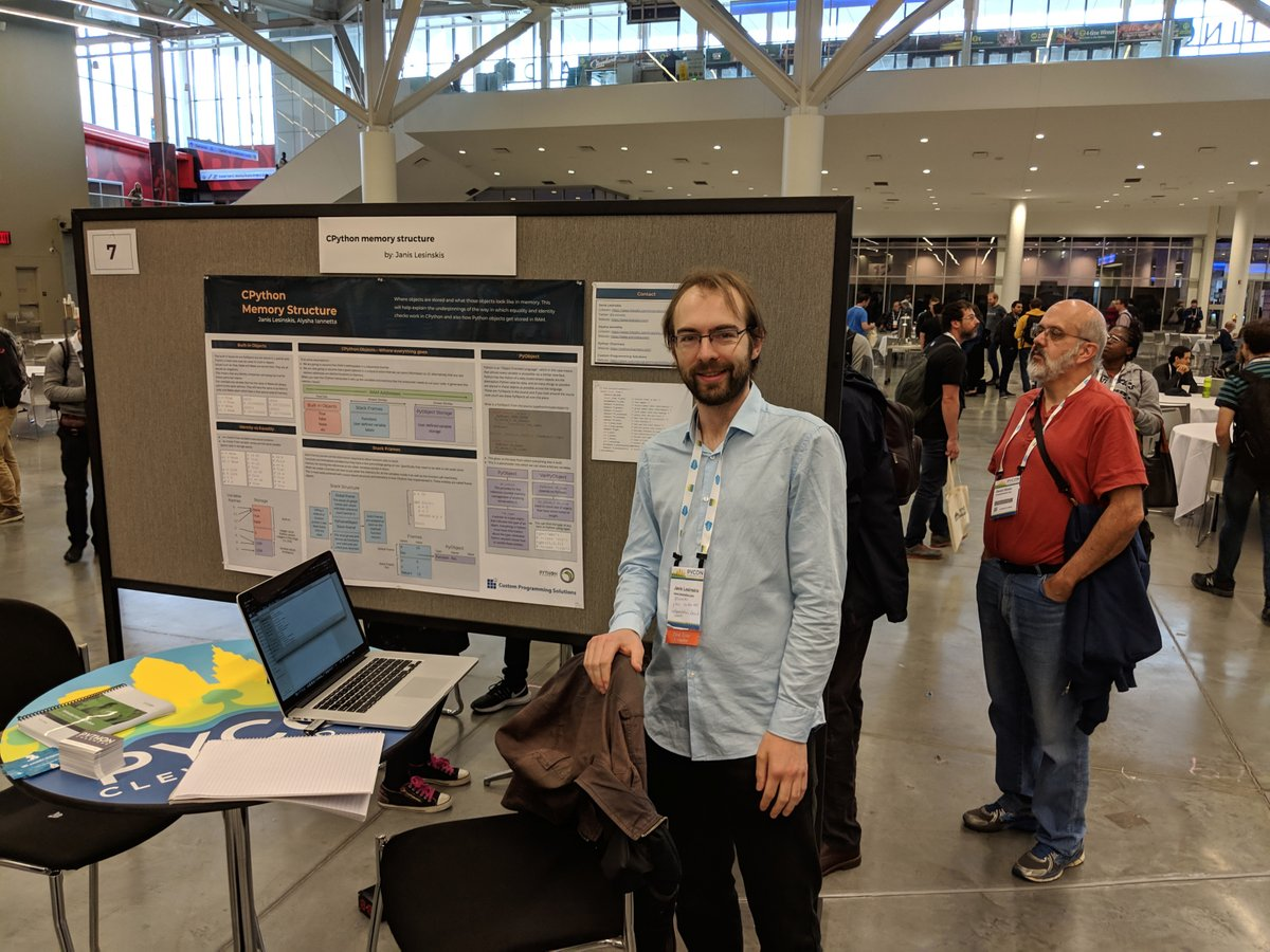 At the PyCon poster session