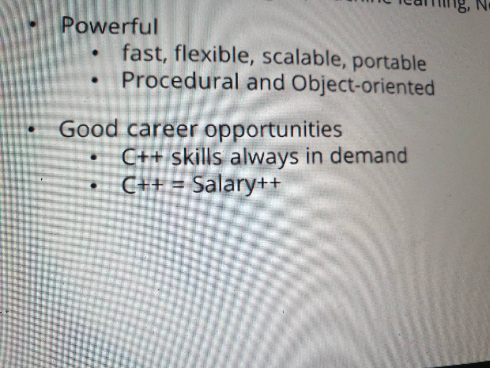 C++ lecture slide