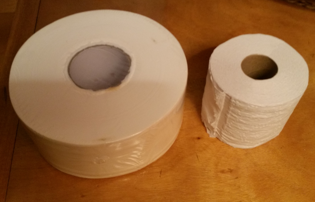 Commercial vs home toilet paper rolls