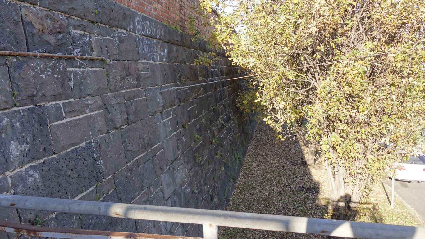 View of the wall from staircase